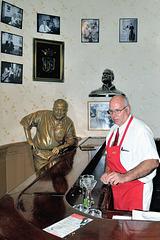 Hemingway as guest inside a bar in Havana Vieja