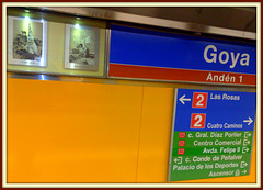 They do go in for colour on the Madrid metro and I like that!