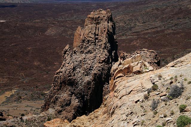 Bergsteiger auf dem mächtigen Turm