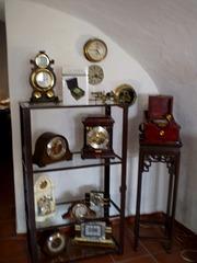 Wall and table clocks.
