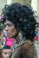 Portrait of a Cuban transvestite