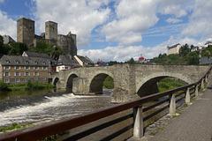 Alte Brücke und Burg in Runkel an der Lahn ( 3xPiP)
