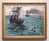Steamboat: Seascape with Porpoises by Manet in the Philadelphia Museum of Art, August 2009