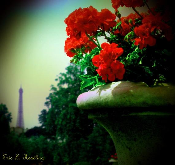 View of Eiffel Tower from Luxumbourg Garden