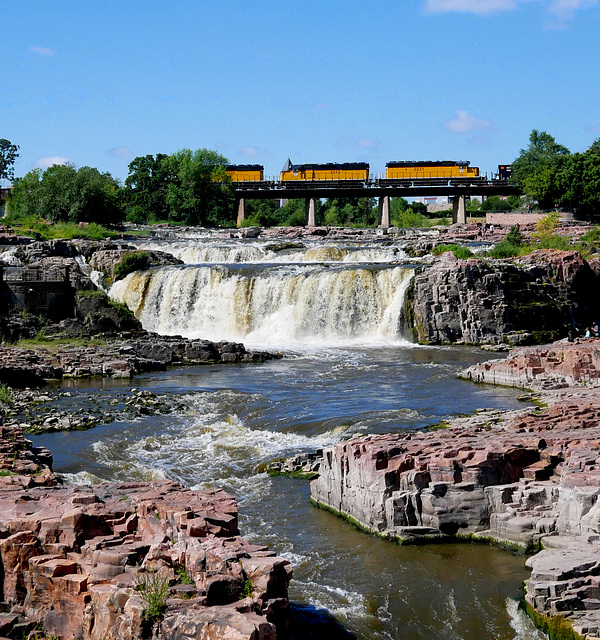 Falls with Train