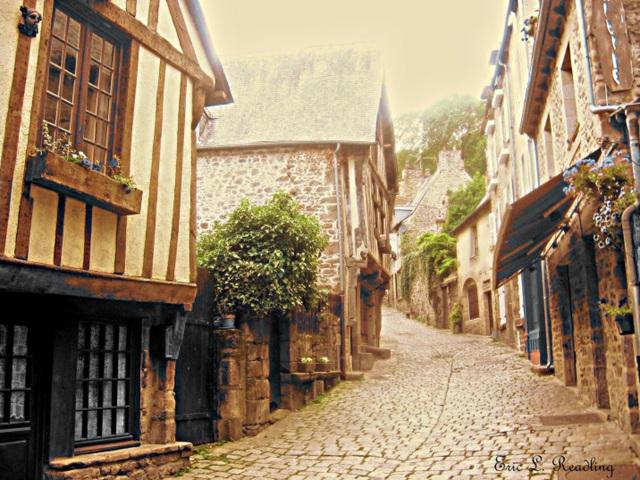 Dinan, France (sepia)