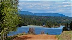 Chimney lake in British Columbia, Canada