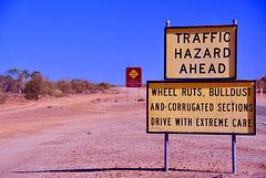 Road sign..Central Australia