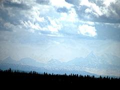 Alaska Range, 80 miles away