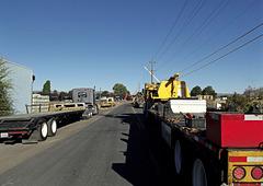 Street full of trucks