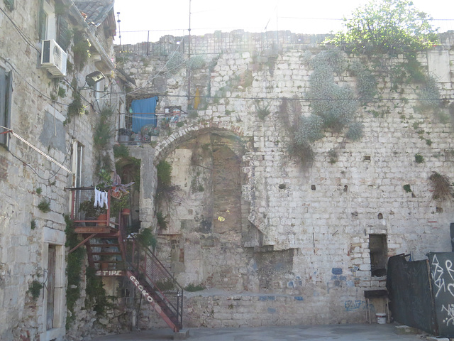 Les murs de Split.