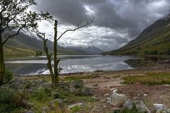 Moody sky over Loch Etive, Argyll, Scotland
