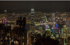 Vue panoramique sur Hong-Kong