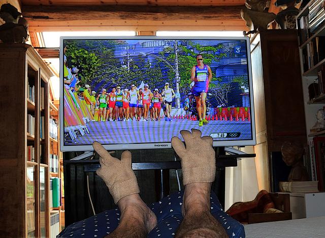En ce moment je suis en pleine forme olympique , sur mon lit , j'ai regardé les J.O. jusqu'à minuit