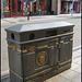black and gold recycling bin