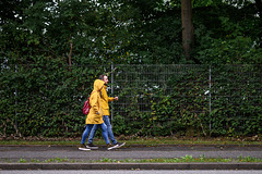 Walking in th rain