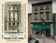 Spangler and Rich, Dealers in Dry Goods, Marietta, Pennsylvania—Then and Now