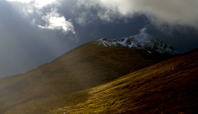 Sunlit uplands, Glen Garry, Lochaber, Scotland