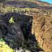Von Los Llanos nach Süden. Lavagraben zum Meer hinunter.  ©UdoSm