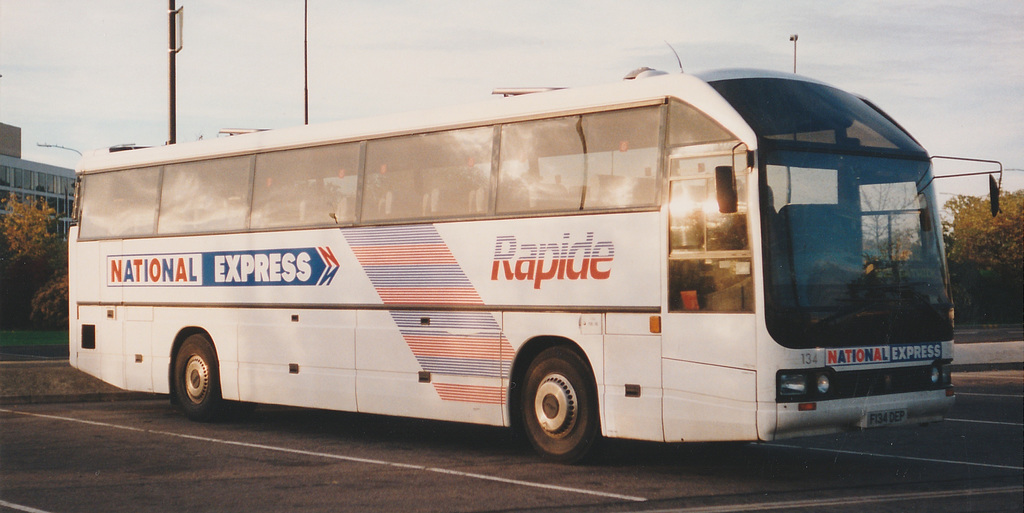 South Wales Transport (or United Welsh) F134 DEP at Gatwick - 21 Oct 1990