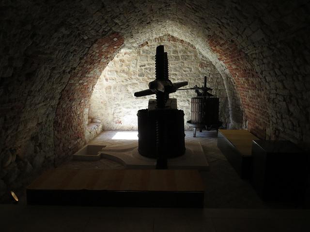 Musée ethnographique de Split : pressoir.