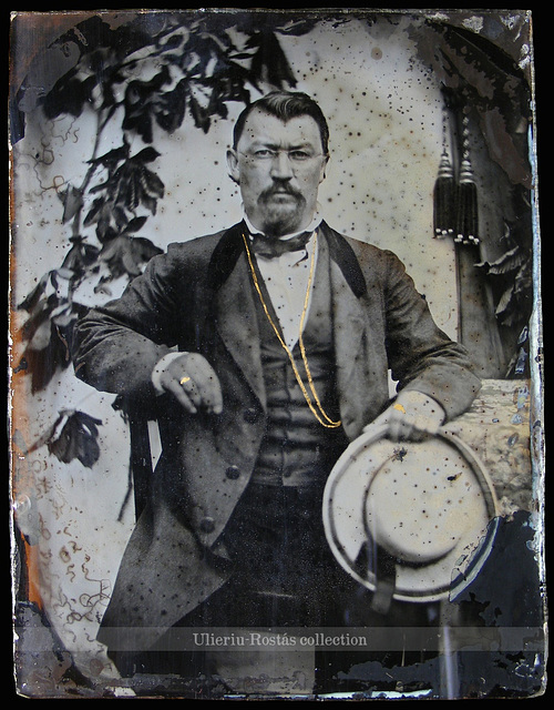 Portrait of a Saxon gentleman from Transylvania (?), ambrotype