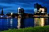 Lauschiger Sommerabend an der Elbe