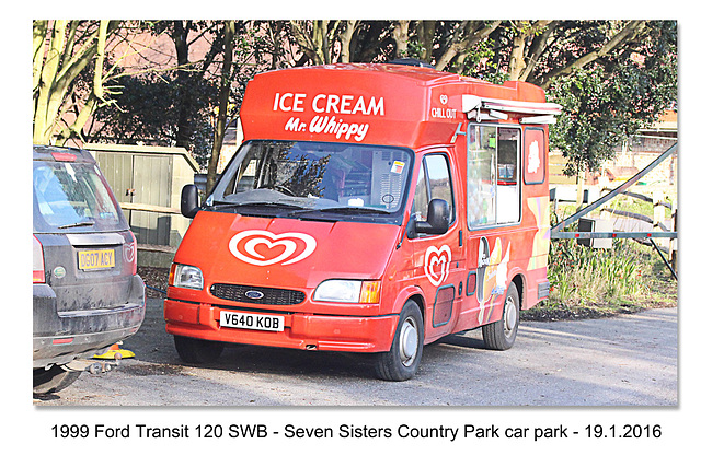 1999 Ford Transit icecream van Seven Sisters Country Park - Sussex -19.1.2016