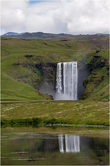 "The ""Skógafoss"" from a distance"
