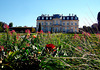 Château de Champs, façade nord et jardins à la française