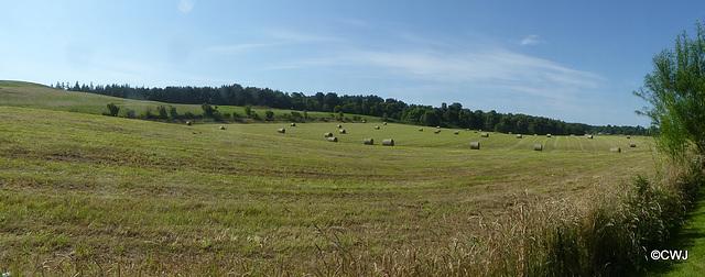 Baling the hay...