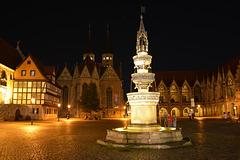 Der Altstadtmarkt in Braunschweig mit Marktbrunnen