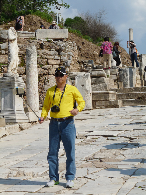 Ephesus- Man with Selfie (Selfish?) Stick