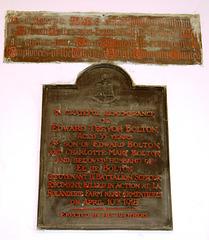 Monument to Edward Bolton (Died 1918), Great Sankey Church, Warrington, Cheshire
