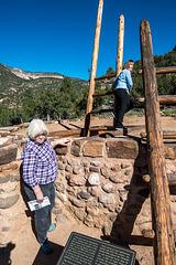 Marilyn and Shari at the kiva at Jemez2