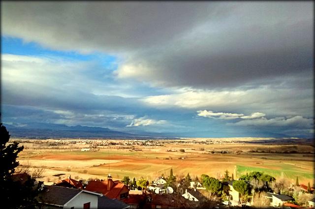 View from Algete to La Sierra de La Cabrera.