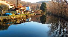 Verbania- Fondotoce . Il canale al tramonto