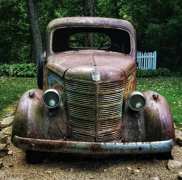 the old rusty ford....