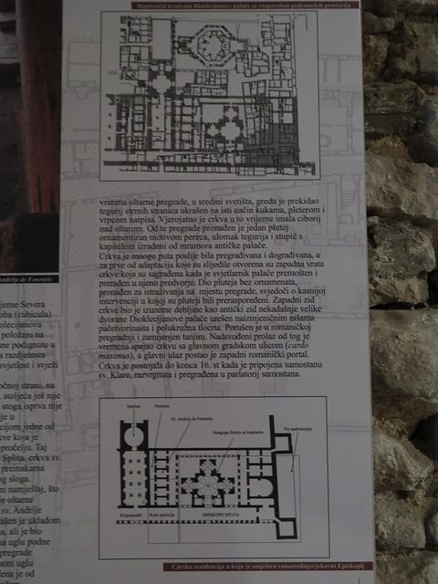 Emprise de l'église dans le palais (plan du bas).