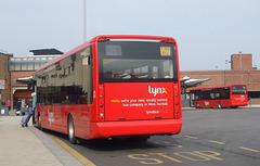 DSCF2816  Lynx (Coastal Red Limited) 5 (YJ55 BKU) and 2 (YJ55 BJE) in King's Lynn - 11 Mar 2016