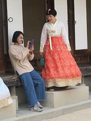 Aux abords d'un temple, Séoul (Corée du Sud)
