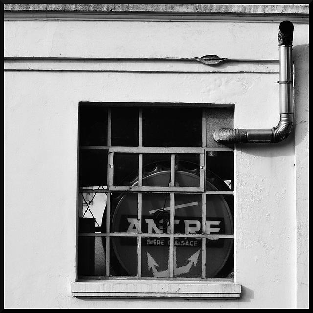 The antique shop window