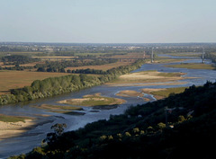 Tagus River and its low banks.