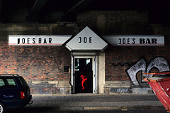 joe's bar, under a bridge
