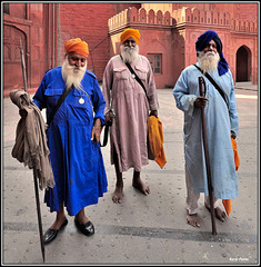 """Veterans in the Red Fort"" - New Delhi - INDIA"