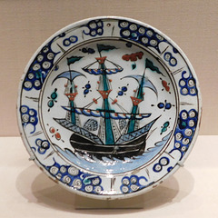 Islamic Dish with a Sailing Ship Design in the Metropolitan Museum of Art, August 2019