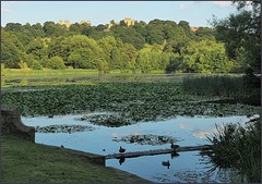 Hardwick great pond - with the old and new Hardwick halls.