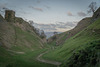 'Cavedale'  with 11th. century 'Peveril castle' ruins -