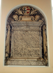 Monument to Mary Offley, Aston Church, Cheshire