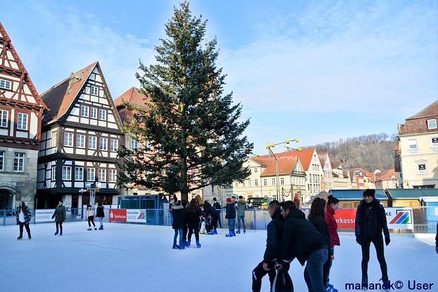 Ice rink on the market in Schwäbisch Gmünd